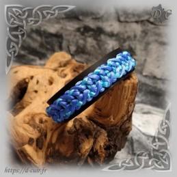 Bracelet cuir et macramé