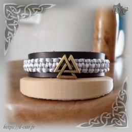 Bracelet cuir et macramé...