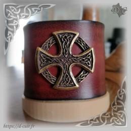 Bracelet cuir marron concho